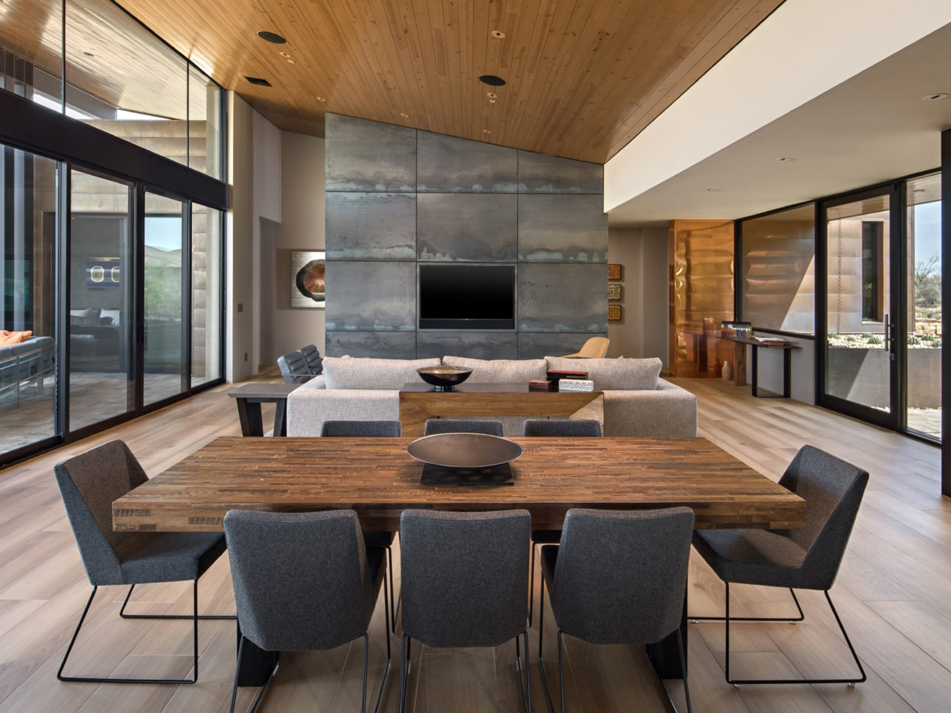 Desert Mountain Home Combines Natural Materials and Metals